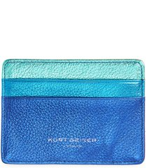 women's kurt geiger london rainbow shop metallic leather card holder - pink