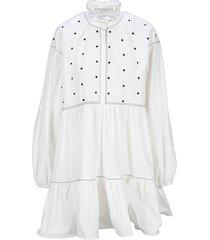 philosophy di lorenzo serafini philosophy embellished shirt dress