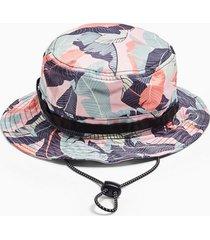 mens multi pink palm safari buckle hat