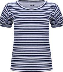 camiseta mujer puño recogido color blanco, talla 10