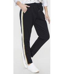 pantalon jogger tape i negro corona