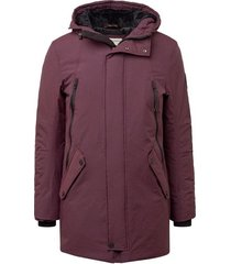 tom tailor heren winterjas parka capuchon bordeaux rood