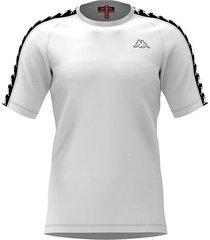 camiseta kappa coen - blanco/negro