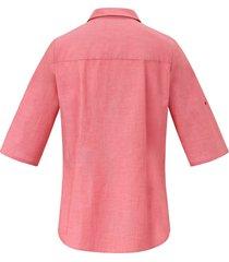 blouse van 100% katoen met korte mouwen van peter hahn rood