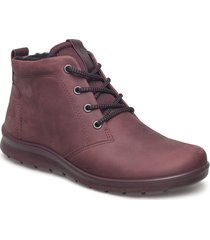 babett boot shoes boots ankle boots ankle boot - flat röd ecco