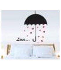 adesivo de parede guarda chuva romantico - p 50x37cm