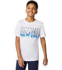converse camiseta all star repeat lunar rock heather white