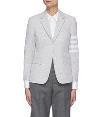 four bar stripe stripe cotton blazer