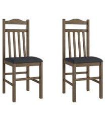 conjunto de cadeiras móveis canção 300 madeira 2 peças fosco