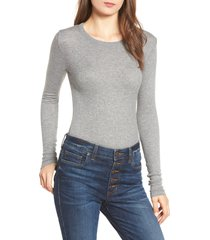 women's bp. ribbed long sleeve tee, size x-large - grey