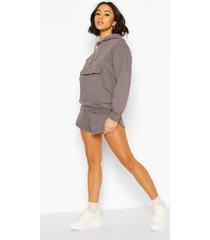 hoodie en shorts set, houtskool