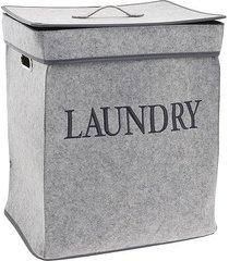 kosz na pranie filcowy laundry szary