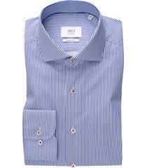 eterna shirt 1863 modern fit blauw wit gestreept
