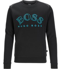 boss men's salbo cotton-blend sweatshirt