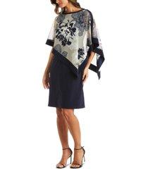 r & m richards petite shawl overlay sheath dress