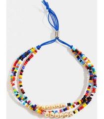 marcela beaded layered bracelet - multi