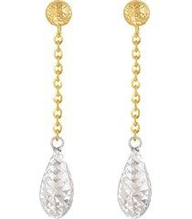 orecchini in oro bicolore per donna