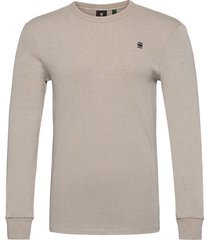 plated rib ringer slim r t ls t-shirts long-sleeved beige g-star raw