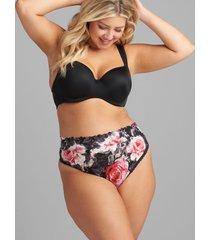 lane bryant women's stretch lace high-waist thong panty 12 rosie cheeks