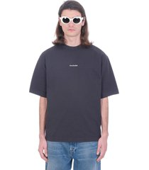 acne studios extor stamp t-shirt in black cotton