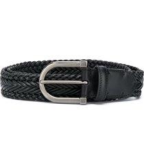 ermenegildo zegna woven adjustable belt - black