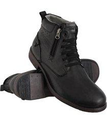 bota coturno couro zíper masculina