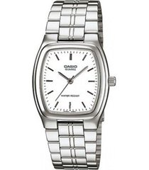 reloj analógico mujer casio ltp-1169d-7a - plateado con blanco  envio gratis*