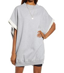 women's free people grove cotton blend pullover, size x-large - grey
