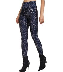 legging long leopard azul ngx