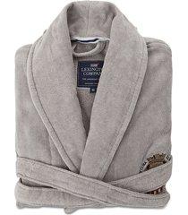 lexington velour robe morgonrock badrock grå lexington home