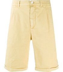 jacob cohen tailored bermuda shorts - yellow