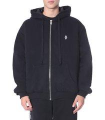 marcelo burlon rose square outerwear sweatshirt