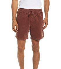 men's katin local corduroy walking shorts, size x-large - burgundy