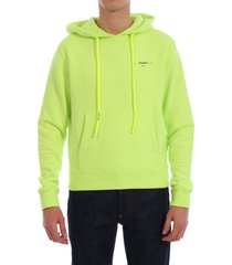 off-white fluo yellow hoodie