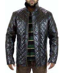 men black quilted leather jacket