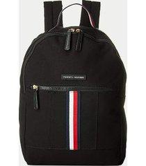 tommy hilfiger women's signature stripe backpack black -