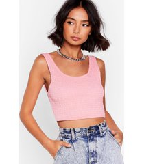 womens give it your vest shot shirred crop top - coral