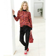 blouse amy vermont rood::zwart::wit