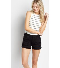 kancan™ womens classic non-stretch high rise black 3in shorts - maurices
