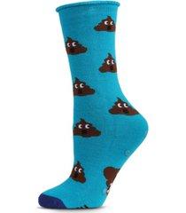 sorry you feel like poop emoji greeting card women's socks