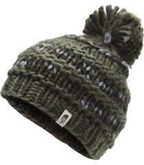 gorro nanny knit verde the north face