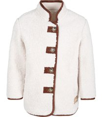 chloé beige jacket for girl with logo