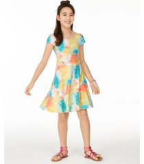 epic threads big girls tie-dye printed dress, created for macy's