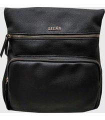 mochila eva negro lilas carteras