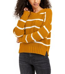 hippie rose juniors' striped sweater