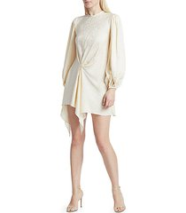 love me do blouson sleeve mini dress