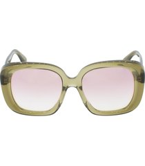 nella sunglasses - dusty olive and pink