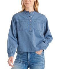 lucky brand edie striped pullover shirt