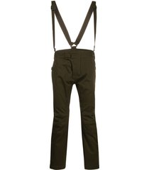 dsquared2 brace-strap trousers - green