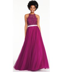 city studios juniors' embroidered tulle gown